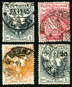 Italy Stamps # B1-4 Used VF Scott Value $141.50