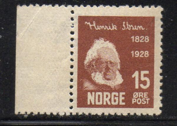 Norway Sc 133 1928 15 ore Ibsen stamp minr