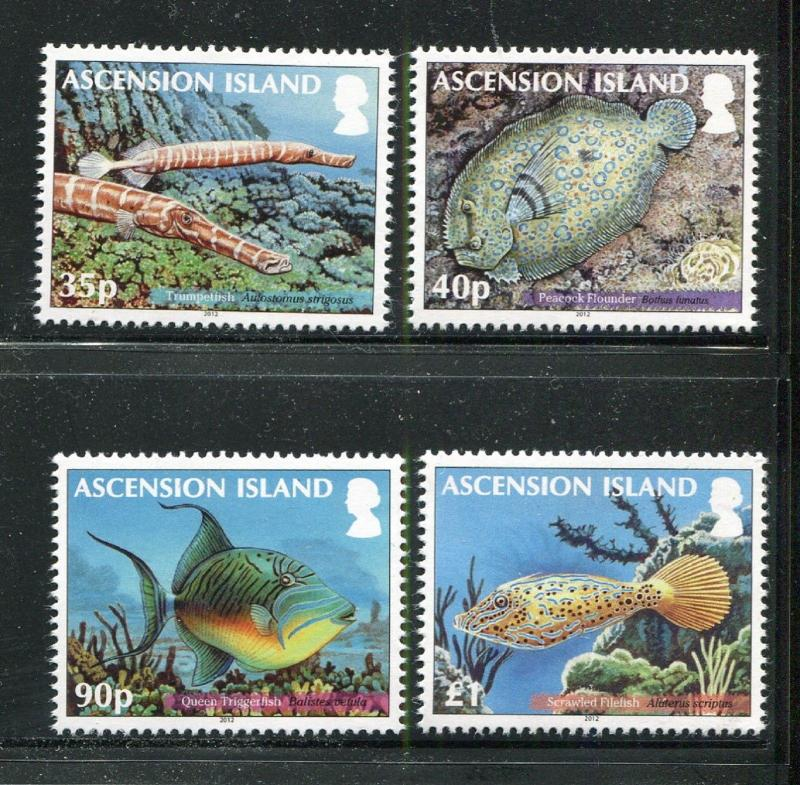 Ascension Island 1050-1052, MNH, 2012. Marine Life. x29380