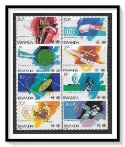Rwanda #1043-1050 ITU Issue Set MNH