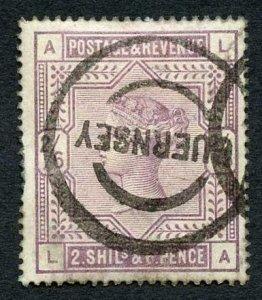 SG178 2/6 Lilac (LA) White Paper Guernsey Postmark cat 160