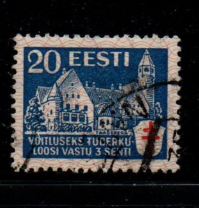 Estonia Sc B27 1933 20s + 3s Taagepera Sanitorium TB stamp used