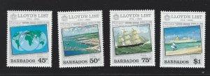 Barbados   mnh   s.c.# 627-630