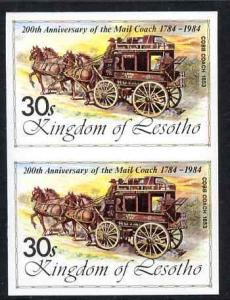 Lesotho 1984 Cobb Coach 30s (from 'Ausipex' Stamp Exhibit...