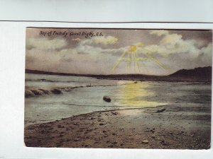 Z624 1907 used postcard bay of fundy n.s. canada mailed to allenhurst new jersey