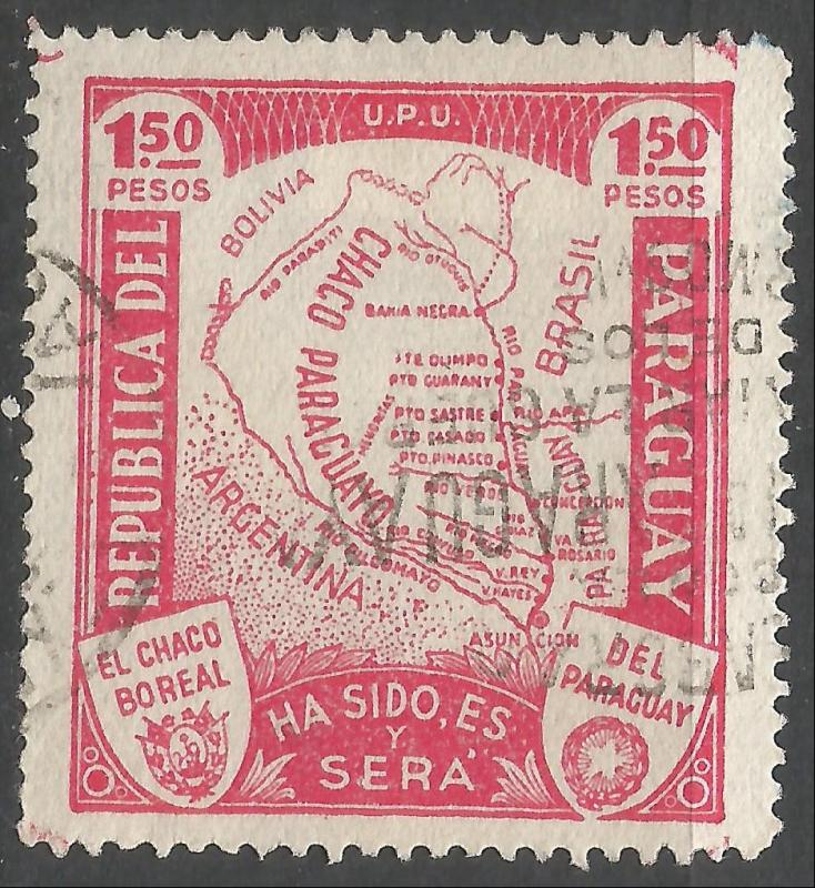 PARAGUAY 324 VFU MAP W622-2