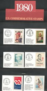 1795-1843 US Postage Commemorative Stamps (1980) In Mounts & Post Marked  MNH