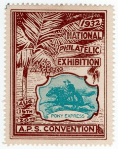 (I.B) US Cinderella : National Philatelic Exhibition (Los Angeles 1932)