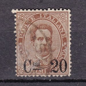 J27864 1890-1 italy used ovpt  #65 king