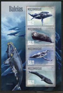MOZAMBIQUE  2016 WHALES SHEET MINT NEVER HINGED