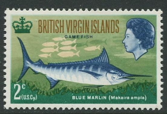 Virgin Is.- Scott 186 - Game Fishing -1968 - MNH - Single 2c Stamp
