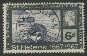 STAMP STATION PERTH St Helena #199 Tercentenary of Settlers 1967 VFU