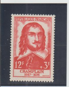 France  Scott#  B305  MH  (1956 Samuel de Champlin)