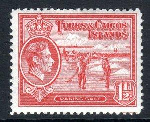 TURKS & CAICOS-,,,1938-45...SG 197  ..1 1/2d   um -vlmm