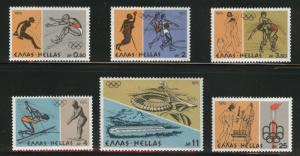GREECE Scott 1181-1186 MNH** 1976 Montreal Olympics set