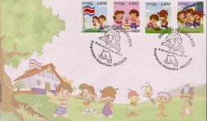 COSTA RICA CHILDRENS PROGRAMS TRICOLIN COMIC STRIP Sc 644 SELF ADHESIVE FDC 2011