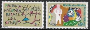 UN, Vienna #117-8 MNH Set - Rights of the Child