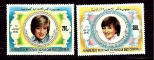 Comoro Is 546-47 MNH 1982 Princess Diana