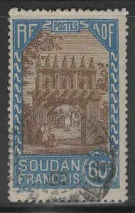 French Sudan Scott 78 Used stamp from 1931-1940 set