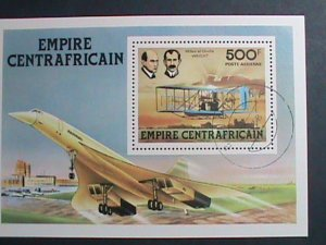 CENTRAL AFRICA-1978- WRITE BROTHERS & AND GLIDER- CTO S/S VERY FINE