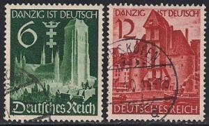 Germany 492-493 Used - Unification of Danzig
