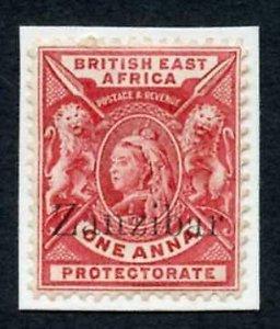 Zanzibar SG42 1a Carmine-rose QV M/M