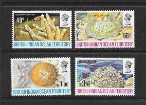 BRITISH INDIAN OCEAN TERRITORY #44-47   MARINE LIFE  MNH