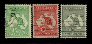 Australia SG# 1 - 3 Used / #2 Small Thin - S6859