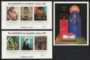 Micronesia Christmas Paintings Works of Art 6v+MS SG#671-MS677