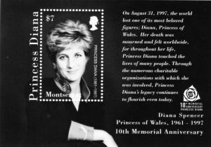 Montserrat 2007 Princess Diana 10th.Ann.Death S/S Sc#1190 MN