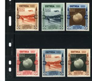 ERITREA 1934 EXPO. INTERNAZIONALE, d'ARTE COLONIALE NAPOLI #C1 - C6 MH  $33.00