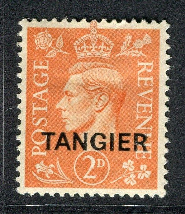 MOROCCO AGENCIES TANGIER;  1949 GVI Optd. issue fine Mint hinged 2d. value