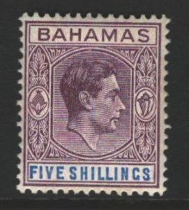 Bahamas Sc#112 MVLH - minor toned perfs