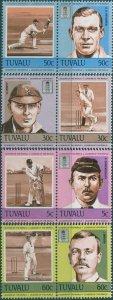 Tuvalu 1984 SG281-288 Cricketers set MNH