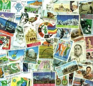 Pakistan Stamp Collection - 300 Different Stamps