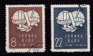 China Peoples Republic 1957 Forth Internat. Trade Union Complete (2)  VF/Used