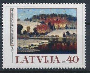 Latvia 2001 #523 MNH. Painting