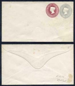ESC141 QV 2 1/2d Grey Blue (12.8.92) 2d Lake (12.8.92) Compound Envelope Mint