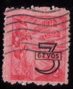 US Scott #512 Cuba Stamp USED 3 CTVOS on 2 Cent FINE