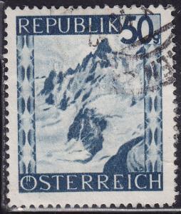 Austria 473 USED 1946 Silvretta Mountains, Vorarlverg 50g