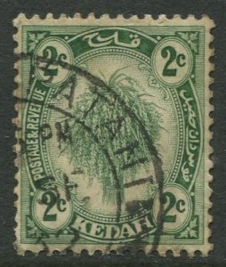 STAMP STATION PERTH Kedah #25a Sheaf of Rice Used Wmk 4-Type II -1921-1940