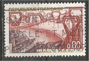 FRANCE, 1969 used 80c, Vouglans Dam, Jura Scott 1233