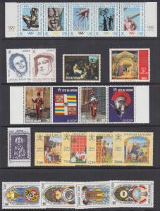 Vatican City Sc 1009/1062 MNH. 1996-1997 issues, 8 complete sets, VF