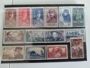 Collection of France Stamps 1940 Catalogue € 70 Most NMH