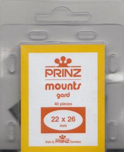 PRINZ BLACK MOUNTS 22X26 (40) RETAIL PRICE $3.99