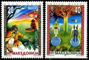 HERRICKSTAMP MACEDONIA Sc.# 97-98 Europa 1997