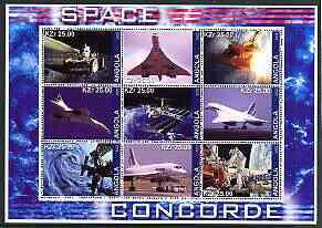 ANGOLA SHEET SPACE CONCORDE AVIATION