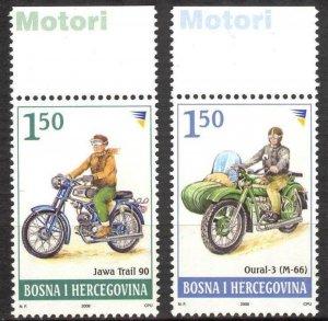 Bosnia 2008 Motorcycles set of 2 MNH