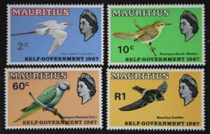 Mauritius #302-305, MNH OG Set Of 4 Birds 1967