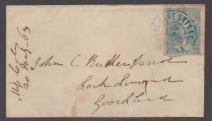 **CSA Cover, SC# 2 Paterson, Charlottesville, VA 1/21/1863, Stone Y